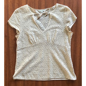 (Vintage) Banana Republic Beige Lace Blouse